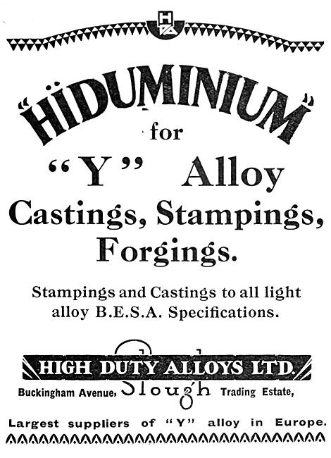 High Duty Alloys HDA