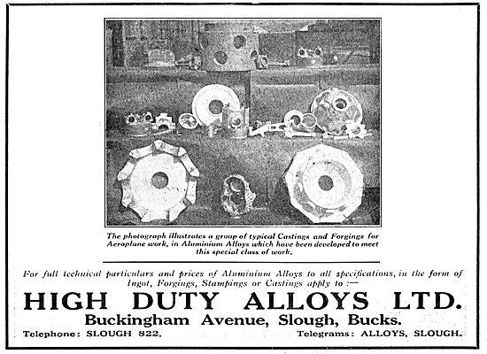 High Duty Alloys - Aircraft Aluminium Castings & Forgings