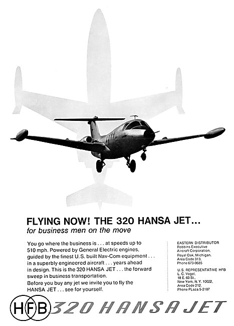 Hamburger Flugzeugbau HFB 320 Hansa Jet