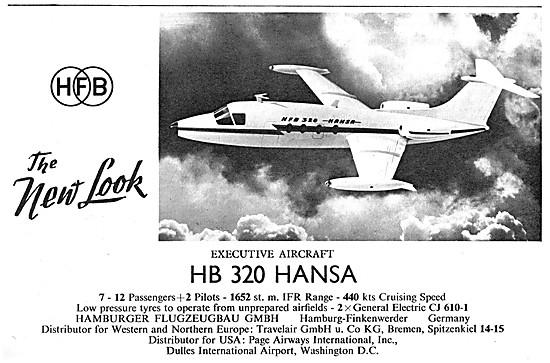 Hamburger Flugzeugbau HB 320 Hansa Jet