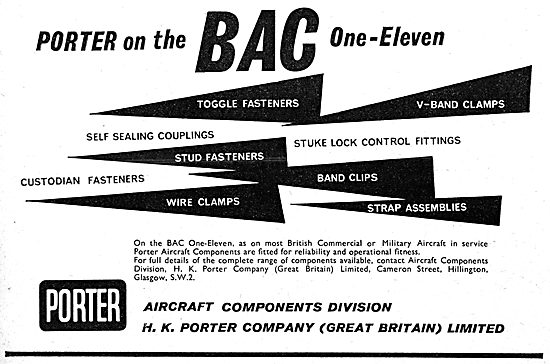 H.K.Porter. Aircraft Couplings, Fasteners, Clamps & Clips