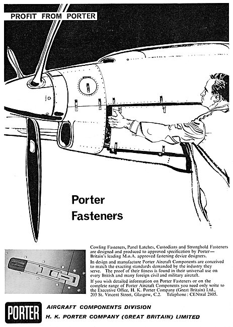 H.K.Porter Aircraft Components. Porter Fasteners