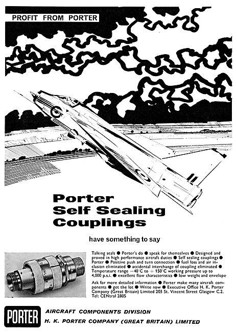 H.K.Porter Aircraft Components. - Self Sealing Couplings