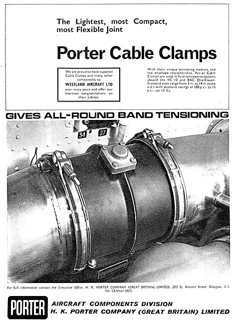 H.K.Porter Aircraft Components. Cable Clamps