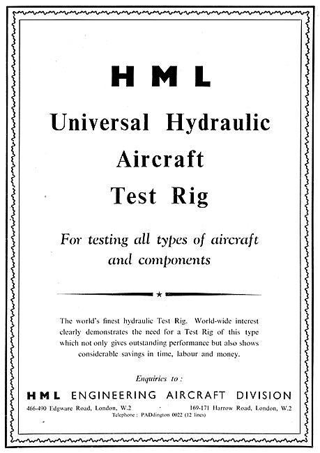 HML Universal Hydraulic Aircraft Test Rig