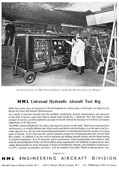 HML Hydraulic Test Rigs