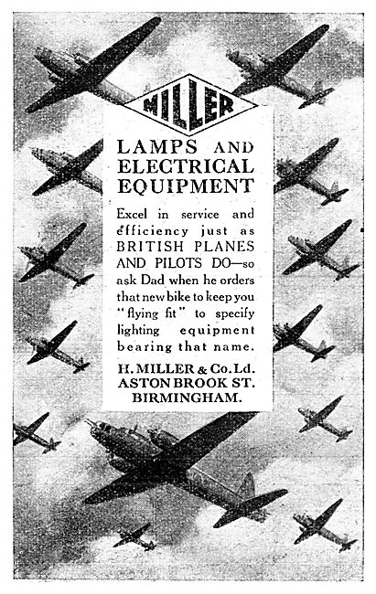 Henry Miller Aircraft Lamps & Electrical Equipment