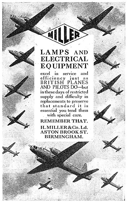 Miller Aircraft Lamps & Electrical Equipment