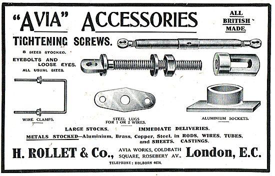 H. Rollet Avia Aeroplane Accessories