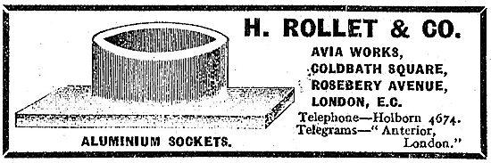 H. Rollet Aluminium Sockets For Aeroplanes