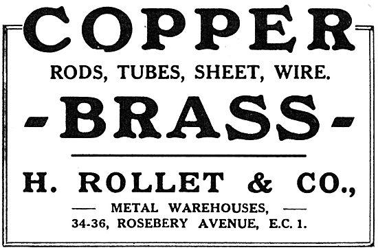 H. Rollet & Co Non-Ferrous Metals - Rods,Tubes & Wire