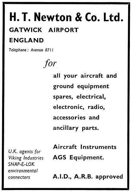 H.T.Newton. Gatwick:  Aircraft Electrical Parts Stockists