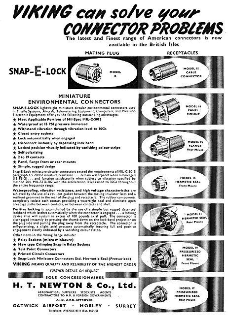 H.T.Newton. Gatwick:  Electrical Parts SNAP-E-LOK Connectors