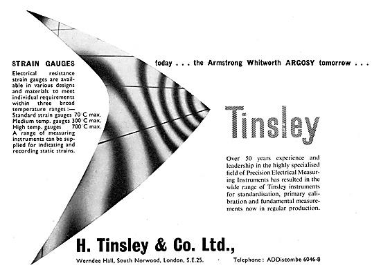 H.Tinsley & Co - High Temperature Strain Gauges