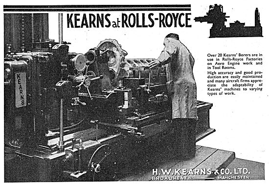 H.W.Kearns. Broadheath. Manchester.  Machine Tools