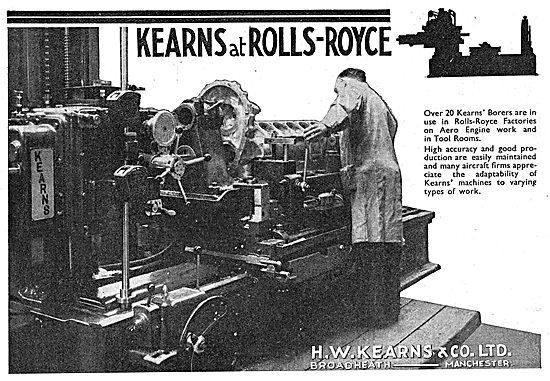 H.W.Kearns. Broadheath. Manchester.  Machine Tools