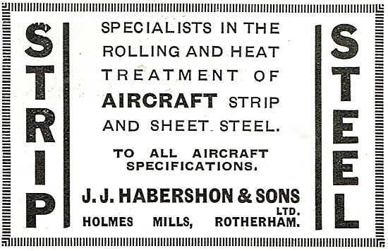 J.J.Habershon - Specialists In Rolling Of Aircraft Strip Steel