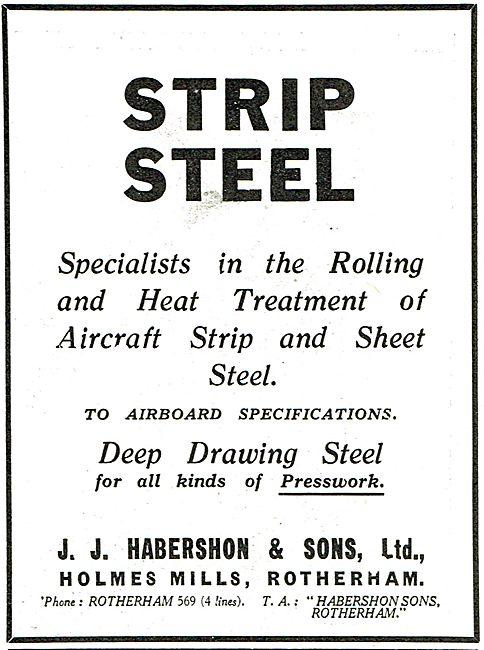 J.J.Habershon - Strip Steel To Airboard Specifications