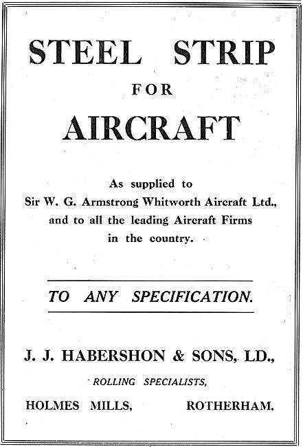 Habershon Steel Strip For Aircraft