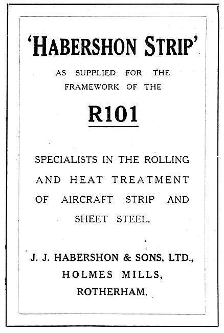Habershon Steel Strip Used On The R101 Airship