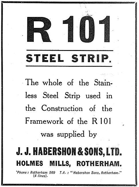 Habershon Steel Strip For The R101 Airship Framework