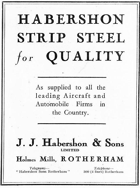 Habershon Strip Steel For Aircraft