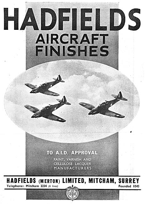Hadfields  Aircraft Finishes - Hadfileds Merton