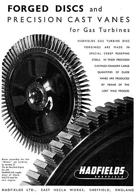 Hadfields Precision Cast Vanes For Gas Turbines
