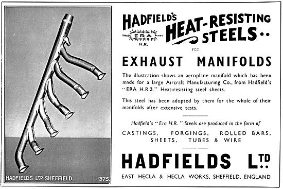 Hadfields Heat Resisting Steels - Aero Engine Exhaust Manifolds