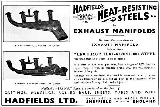 Hadfields Castings  Hadfields Aero Engine Exhaust Manifolds