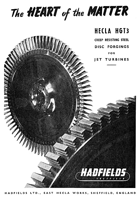 Hadfields Sheffield  Jet Turbine Disc Forgings