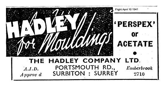 Hadley Perspex Or Acetate Aircraft Componenets Mouldings