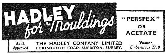 Hadley Mouldings In Perspex Or Acetate. 1942 Advert