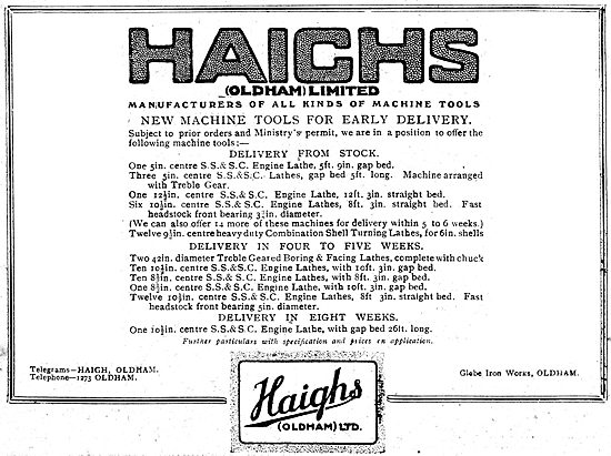 Haighs Of Oldham: Manufacturers Of Machine Tools