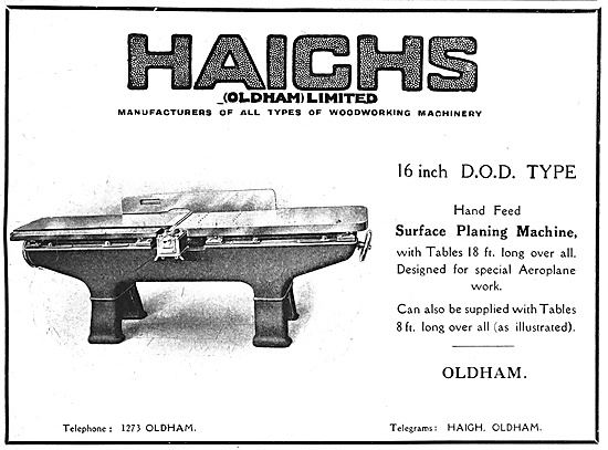 Haighs Of Oldham: Manufacturers Of Machine Tools 1918