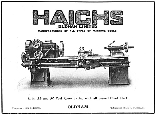 Haighs Machine Tools 1918