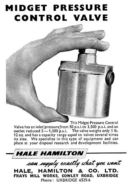Hale Hamilton & Co - Midget Pressure Control Valve