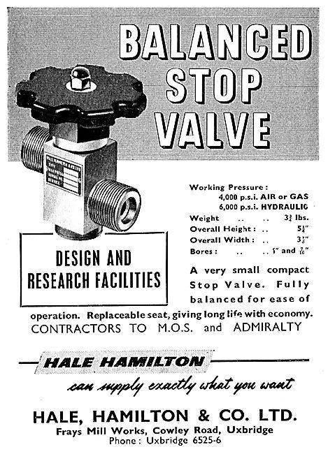 Hale Hamilton & Co - Balanced Stop Valve