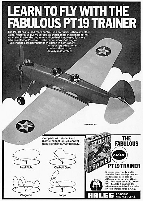 Cox PT9 Trainer Flying Model