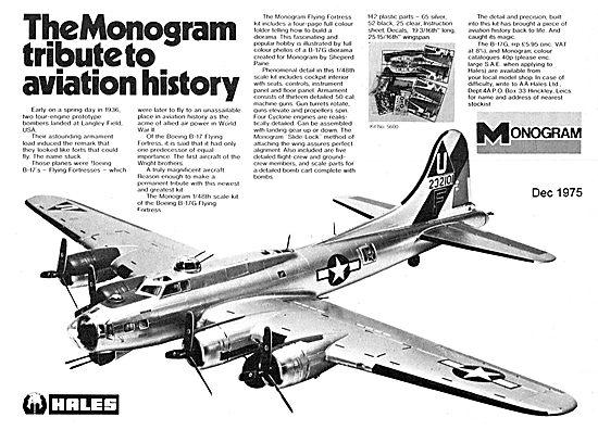 Monogram B17 Aircraft Model Kit