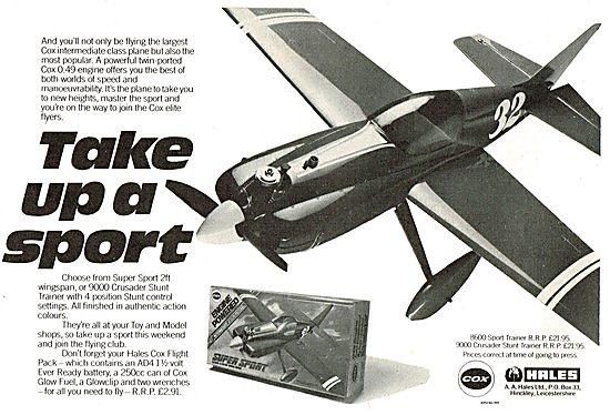Hales Cox Model Aircraft - Take Up A Sport