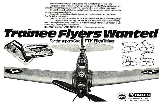 Hales Cox PT19 Flight Trainer