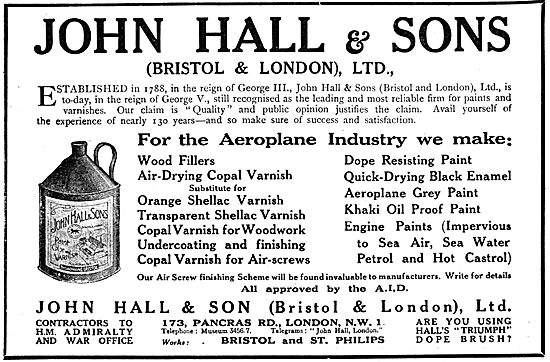 John Hall & Sons. Halls Paints, Varnishes & Painting  Accessories