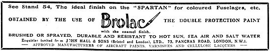 Hall's Brolac The Double Protection Paint For Aircraft