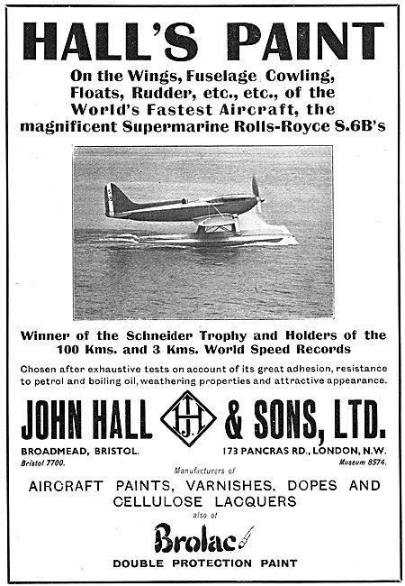 Hall's Aircraft Paints - Brolac