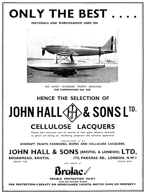 Hall's Aircraft Paints & Finishes 1931