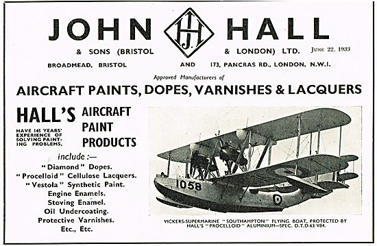 Halls Aircraft Paint Products