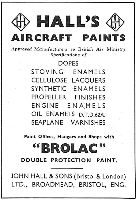 Halls Aircraft Paints & Finishes - Brolac