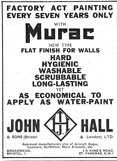 Halls Aircraft Finishes - Dopes,Lacquers & Synthetics