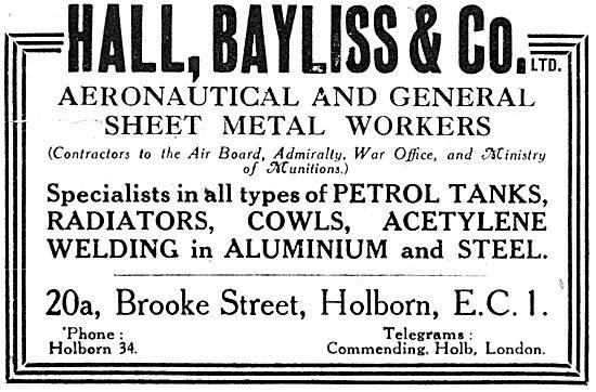 Hall Bayliss & Co - Aeronautical Sheet Metal Workers